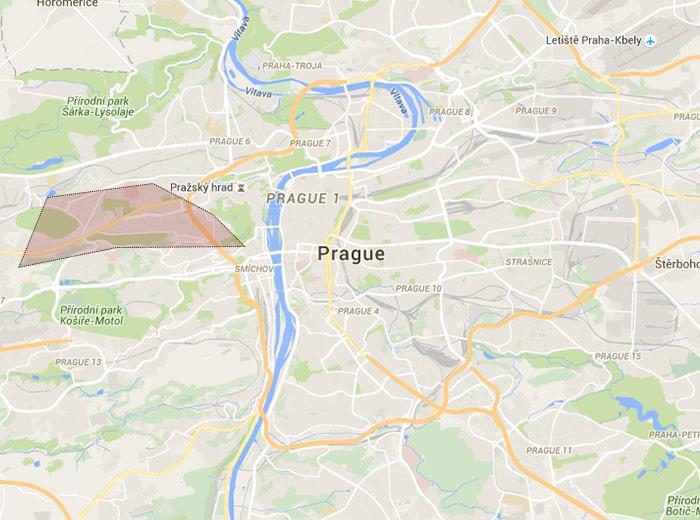 Břevnov map