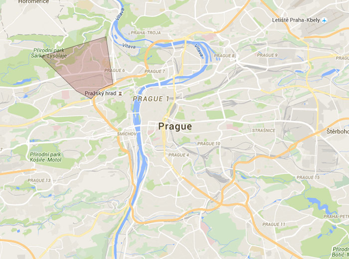 Dejvice map