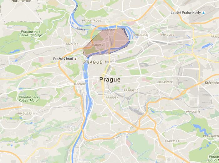 Holešovice map