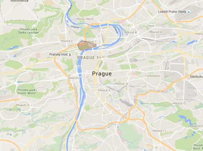 Letná map