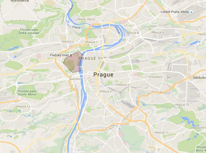 Malá Strana map