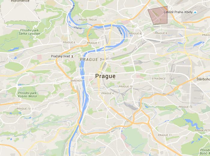 Prosek map