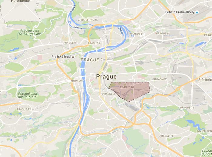 Vršovice map