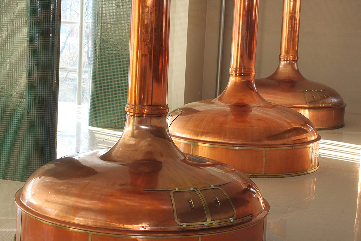 Brewing Kettles at Plzensky Prazdroj